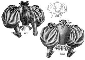 Gibson girl leg o' mutton sleeves