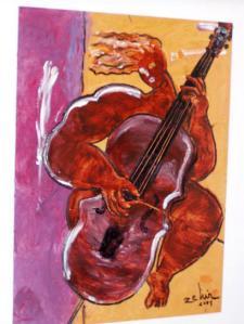 black cellist