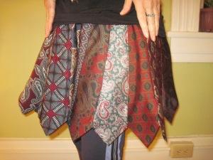 tie skirt closeup