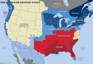 culture map of the US