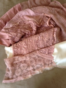 dyed lace scarf
